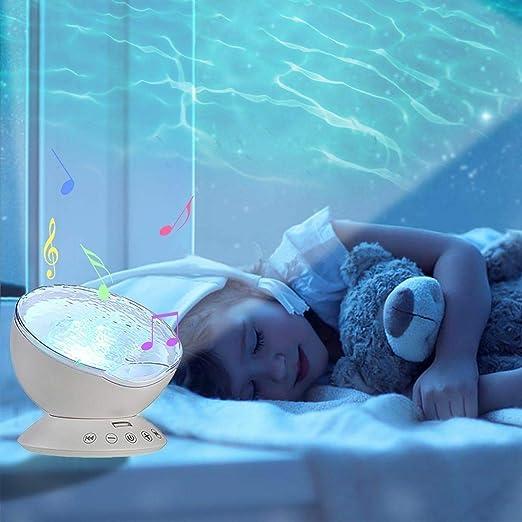 GOTOTOP Proyector de Luz 7 Colores LED Océano Incorporado en la ...