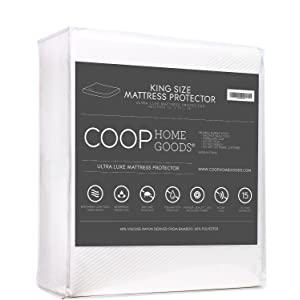 Lulltra Waterproof Mattress Pad Protector Cover by Coop Home Goods - Cooling Waterproof Hypoallergenic Topper – King-white-15 year warranty