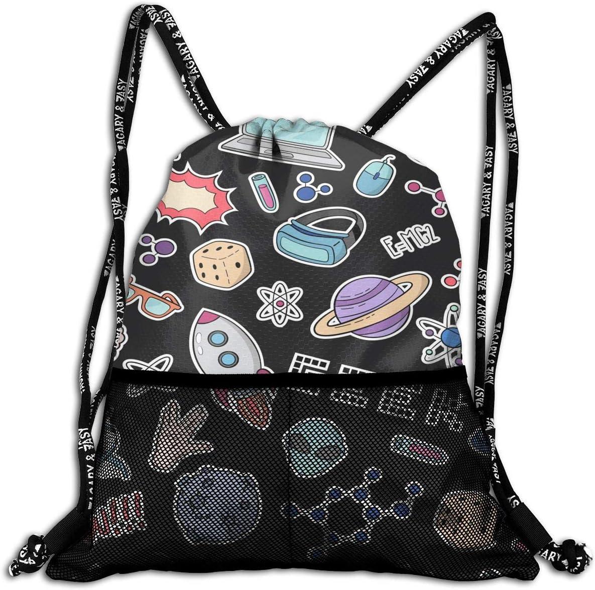 Drawstring Backpack Social-media-icon Bags Knapsack For Hiking