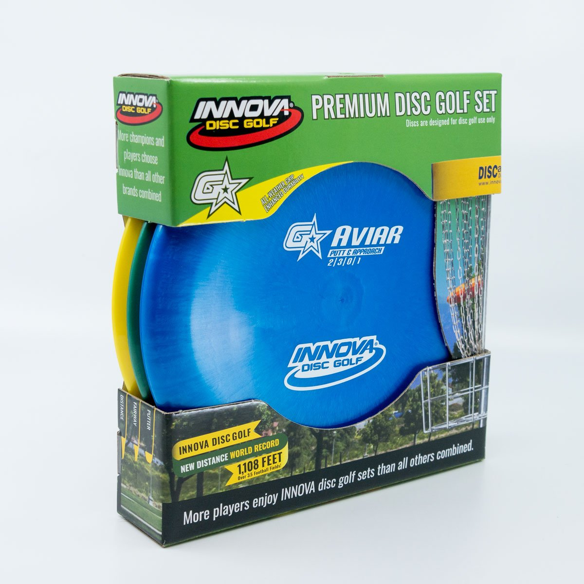 Innova Discs GStar Premium 3-Disc Beginner Disc Golf Set by Innova