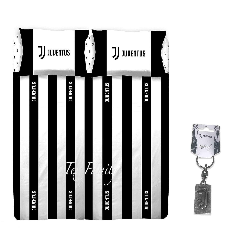 Lenzuola Matrimoniali Juventus.Complete Juventus Juve Original F C Double White Black 2 Sheet