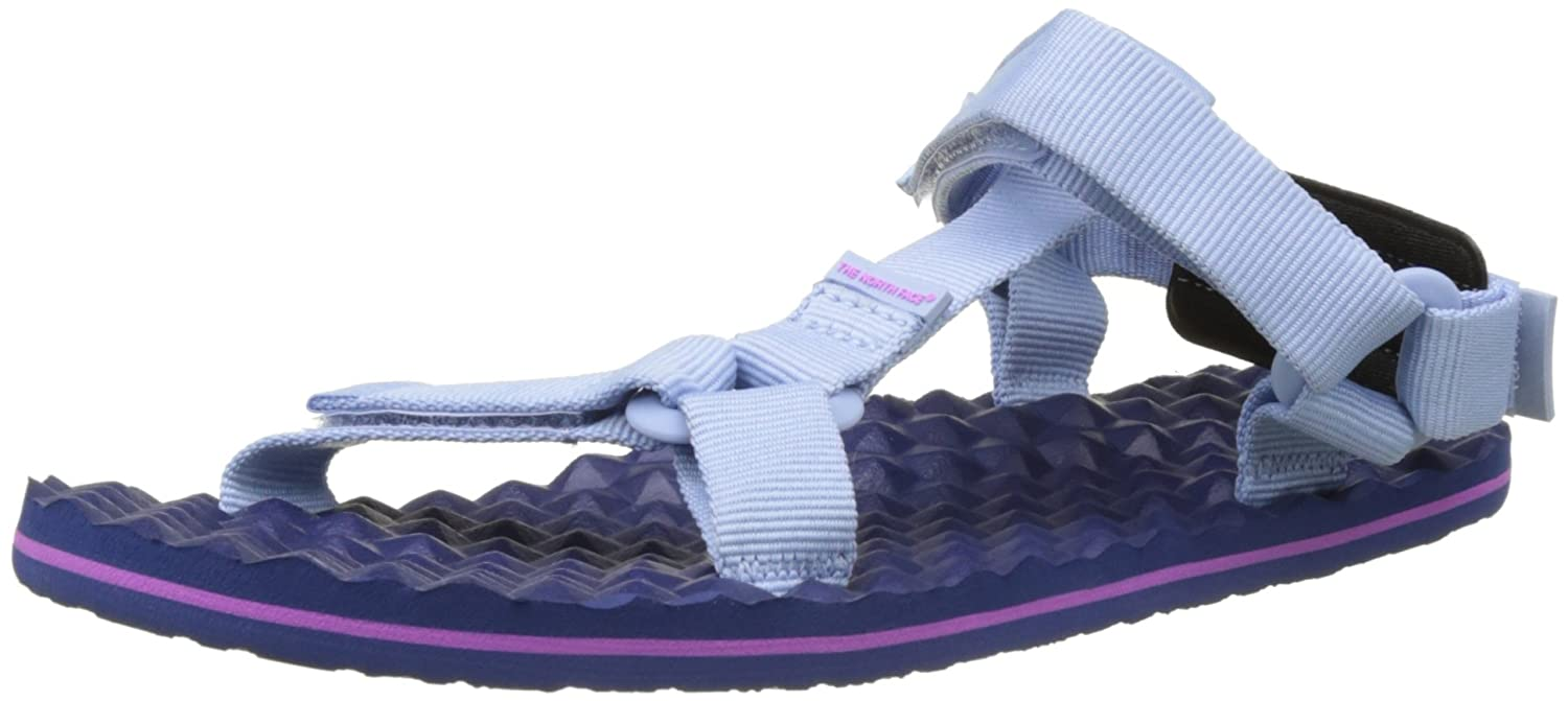 The North Face Women's Base Camp Switchback Sandal B01HHKALGS 10 B(M) US|Chambray Blue/Coastal Fjord Blue Stripe (Prior Season)