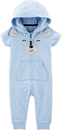 Carter's Baby Boys' Bear Hooded Jumpsuit
