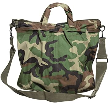 eee9b687e4 US FLYER HELMET BAG M.GURT WOODLAND  Amazon.co.uk  Sports   Outdoors