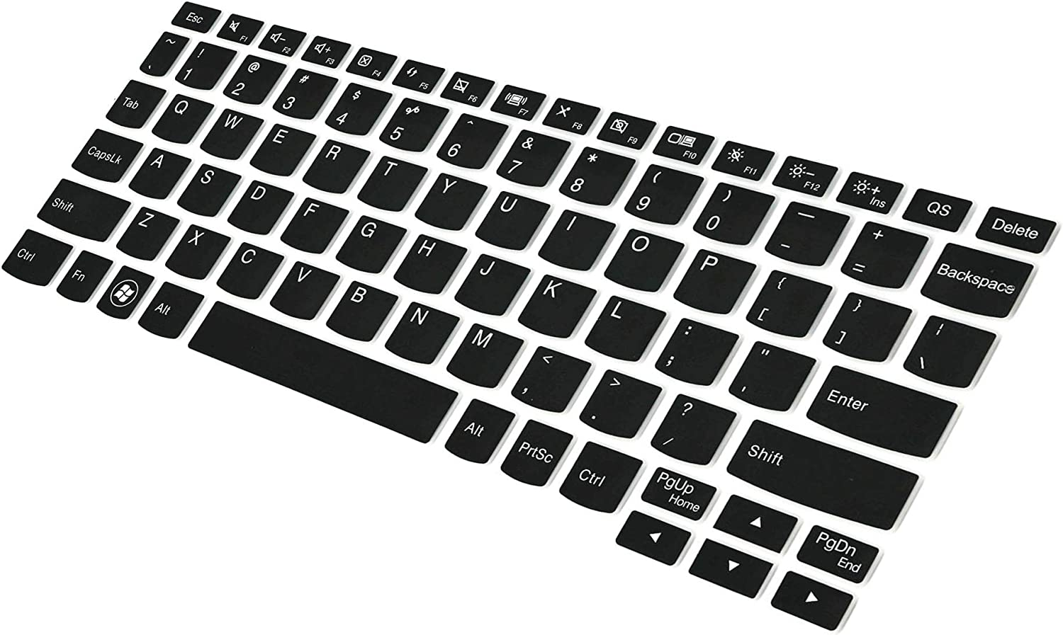 Saco Chiclet Keyboard Skin for Lenovo IdeaTab K3011W Black with Clear
