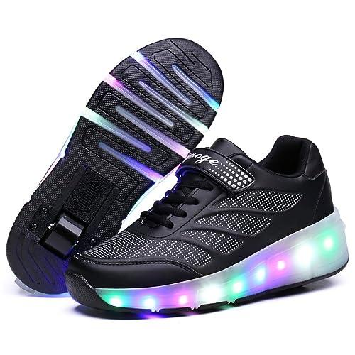 Skybird UK Unisex Bambino LED Scarpe con Rotelle Automatiche Skate Formatori Sportive Ginnastica Lampeggiante Outdoor Multisport Running Sneaker per