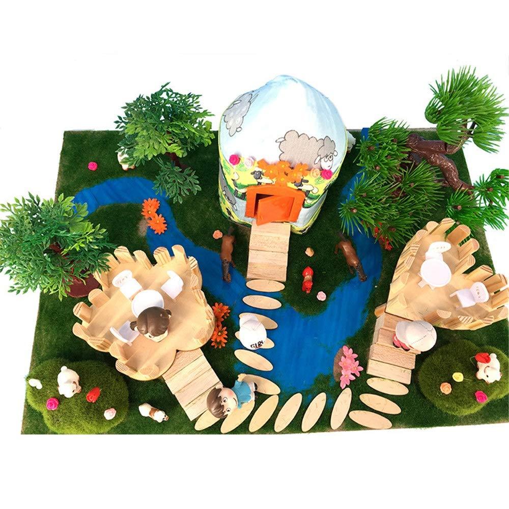 selección larga Susulv-TOY Susulv-TOY Susulv-TOY Casa de muñecas Elegantes Bloques de construcción de Madera ensamblados DIY Ger Modelo de construcción Juguetes Regalo Creativo para niños y niñas Modelo en Miniatura de la artesanía  la calidad primero los consumidores primero