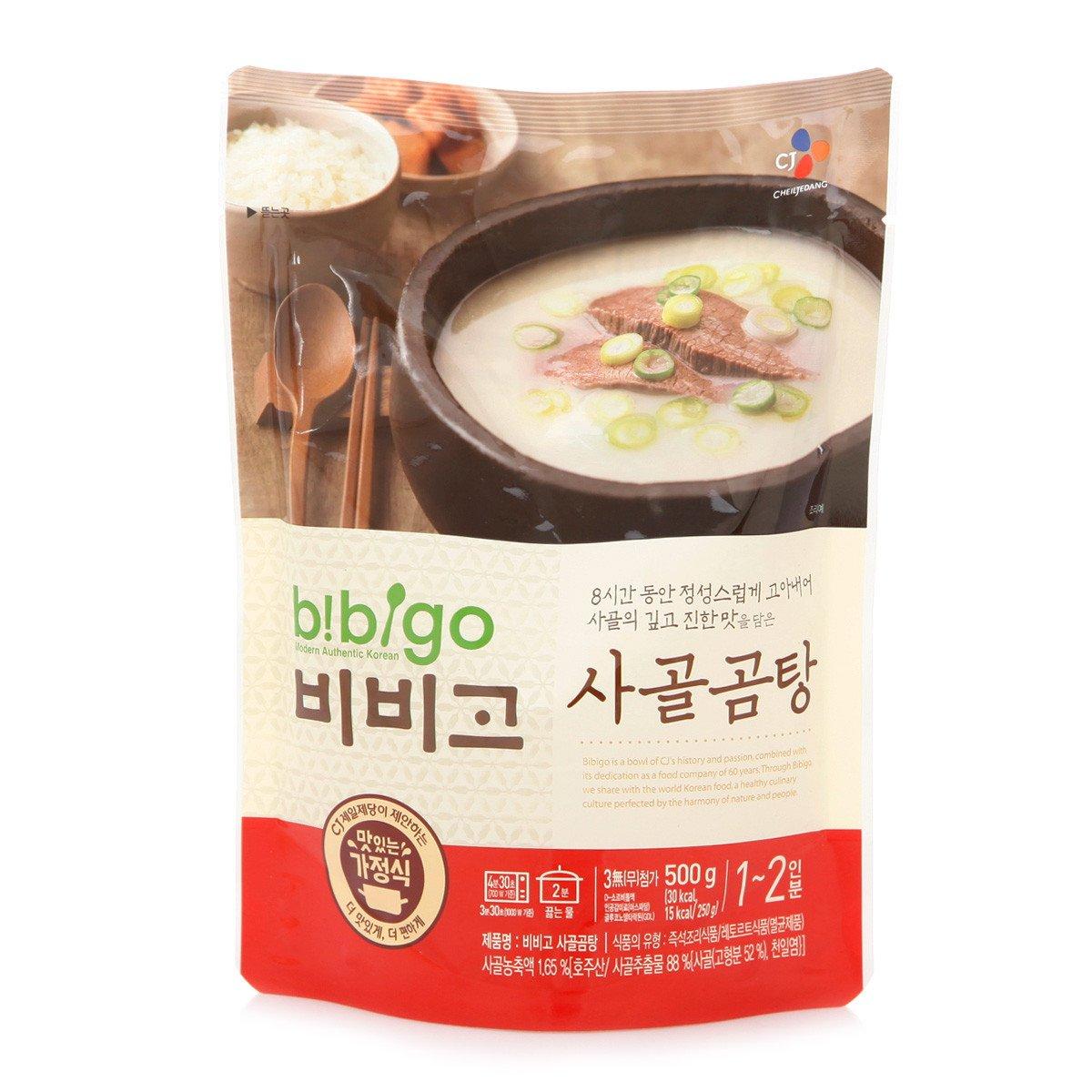 [ 6 Packs ] Korean Bibigo Pre-made Packaged Korean Beef Bone Broth Soup 500g 사골곰탕