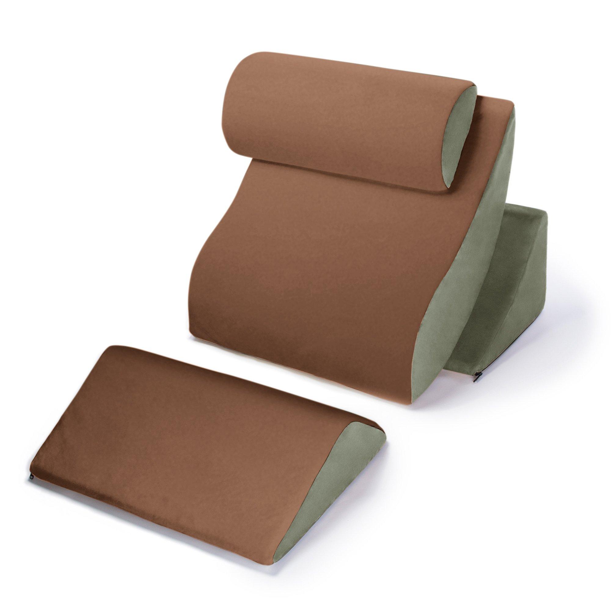 Avana Kind Bed Orthopedic Support Pillow Comfort System, Brown Sugar/Sage