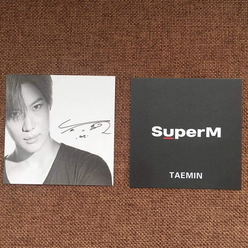 Choose Type 2020 7pcs//Set Zhenzhiao Kpop SuperM 1st Mini Album Fan Made All Poster Lomo Card Photocard Postcard Baekhyun Taemin Ten H01