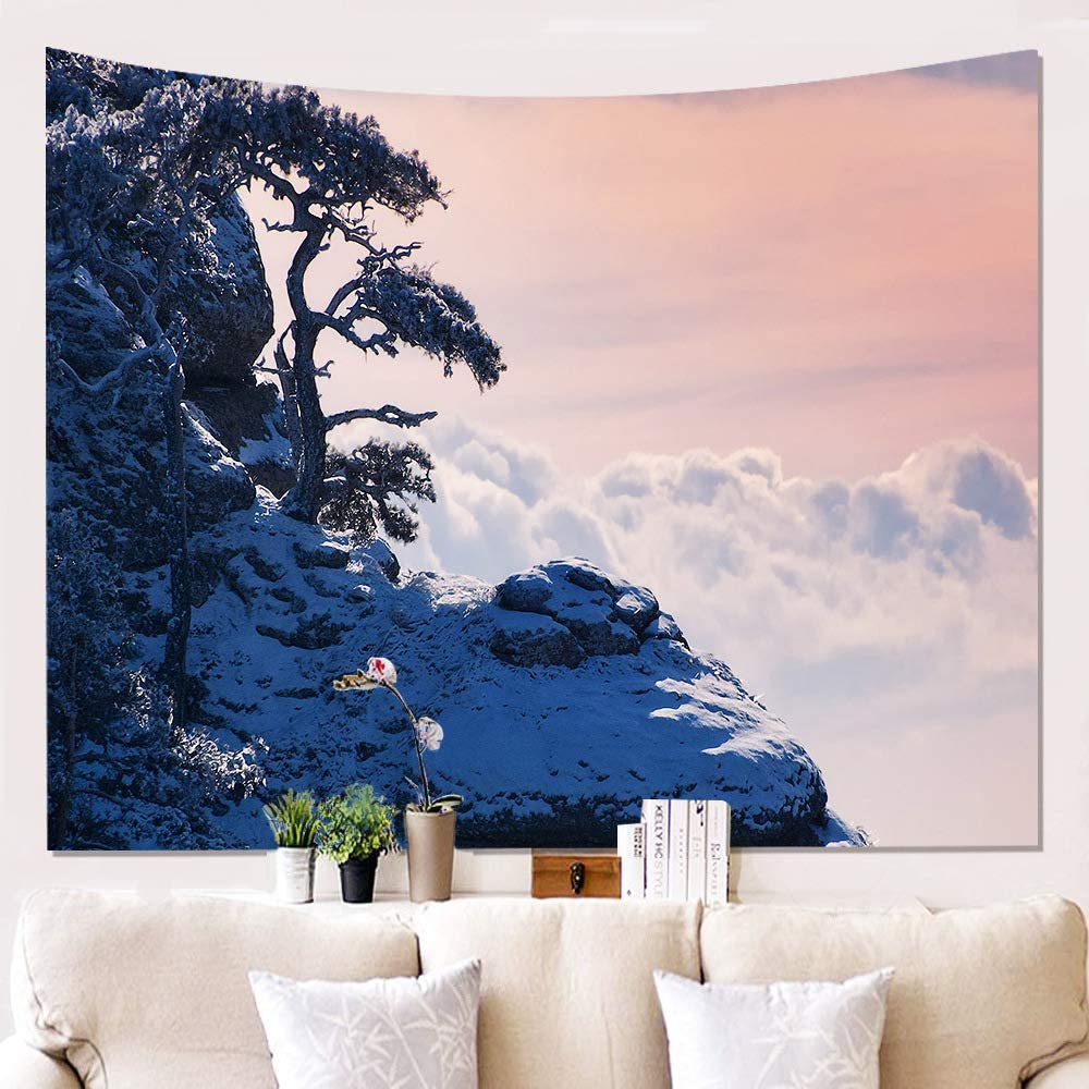 Sunset Forest Ocean Nature Landscape Wall Hanging Background Cloth Living Room Bedroom Decor Beach Towel Amazon Ca Home Kitchen
