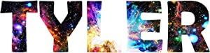 Customized Name Wall Decal Personalized Kids Room Milky Way Wall Sticker VWAQ-GN3 (8