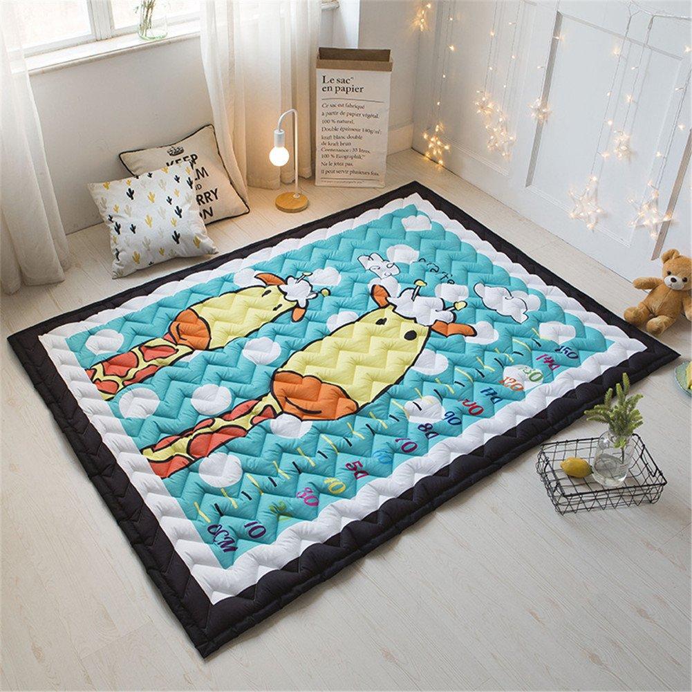 Giraffe Zinsale Gro/ße Verdicken Baby Krabbeldecken Baumwolle Spielmatte Kindergarten Aktivit/ät Pad Krabbelmatte