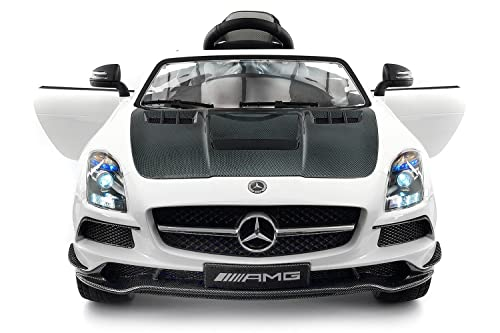 Carbon White SLS AMG Mercedes Benz Car