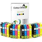 Colour Direct ei-4s18XL - Juego de 16 cartuchos de tinta para impresoras Epson Expression Home
