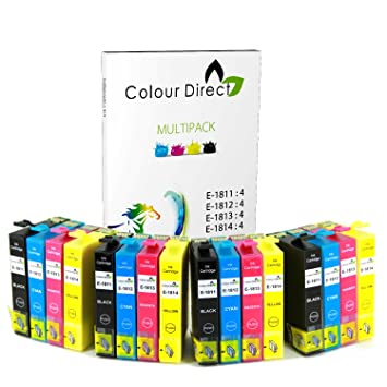 16 Alta Capacidad Colour Direct Compatible Cartuchos de Tinta Para ...