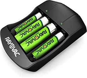 Rayovac AA & AAA Rechargeable Batteries with Battery Charger (2 AA & 2 AAA Rechargeable Batteries with Charger)