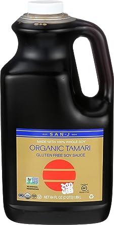 Amazon Com San J Organic Tamari Soy Sauce Gold Label 64 Ounce