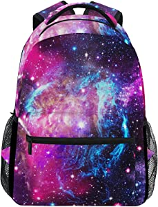 ZZKKO Universe Space Galaxy Star Comos Nebula Boys Girls School Computer Backpacks Book Bag Travel Hiking Camping Daypack