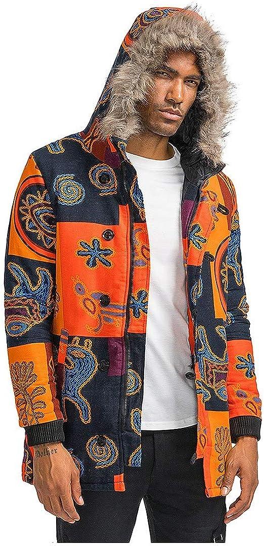 Pandaie-Mens Product Mens Autumn Winter Outdoor Pocket Zipper Printed Sport Outdoor Blouse Coat