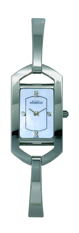 Michel Herbelin Damen-Armbanduhr Analog Quarz Edelstahl 17117-B60