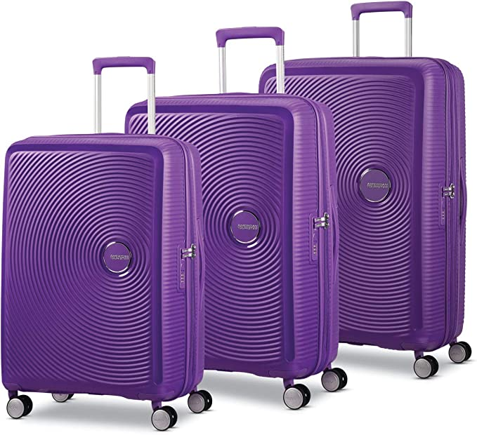 American Tourister Curio Hardside Luggage with Spinner Wheels, Purple, 3-Piece Set (20/25/29)