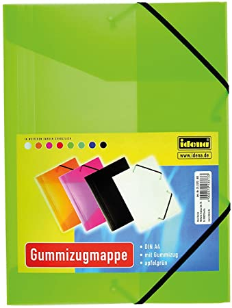 IDENA Gummizugmappe transluzent schwarz DIN A4