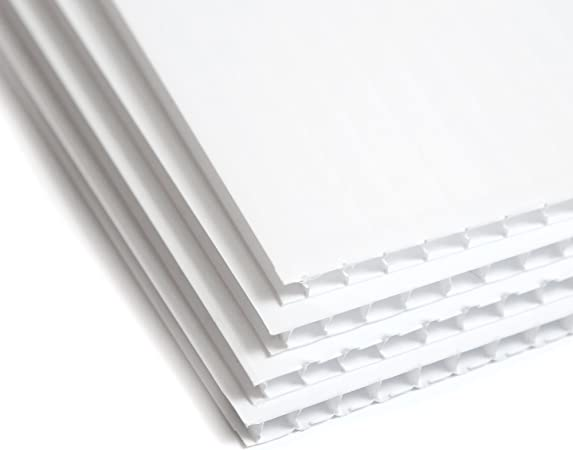 "Free Shipping New White 4mm Corrugated Plastic Board 24/"" x 36/"" 10pk"