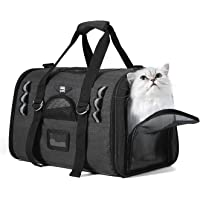 NOBLE DUCK Soft Sided Cat Carriers for Medium Cats Sturdy Pet Carrier with 2 Fleece Pads for Small Dogs Kitties
