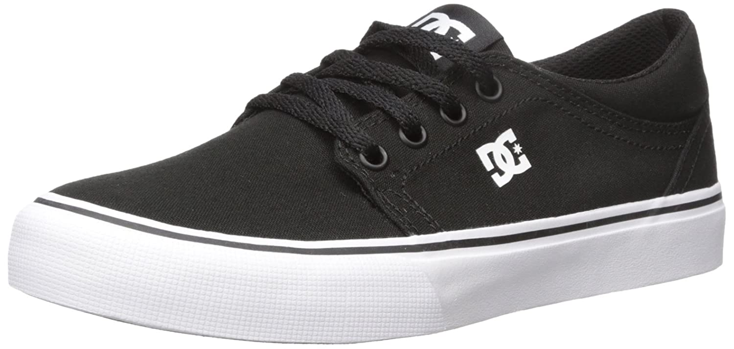DC Men's Trase TX Skate Shoe, Black/White, 7.5 M US