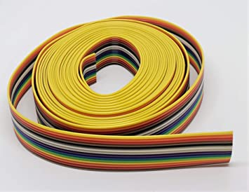 Connectors Pro IDC 1.27mm Pitch Rainbow Color Flat Ribbon Cable for 2.54mm Connectors 8P-15FT Pc Accessories