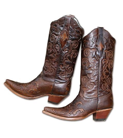 Stelle   Stripes Stivali Western Stivali da Cowboy Donne WBL - 7 dac5491607d7