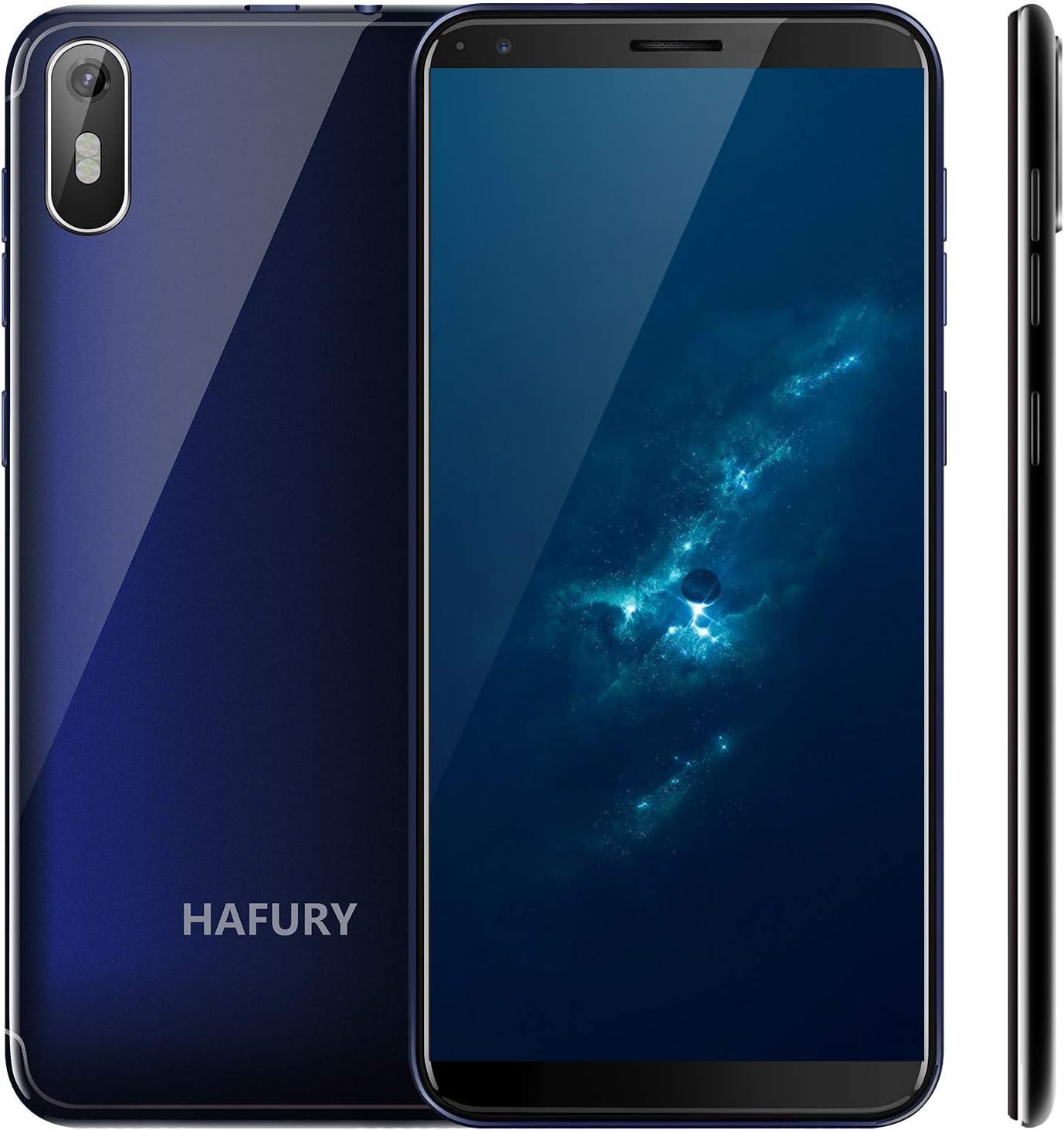 Hafury A7 (2019) Android 9.0 Smartphone Libre con 5.5 Pulgadas (18:9) Pantalla táctil, Dual SIM Dual Standby, 2GB RAM 16GB Almacenamiento, 8MP cámara trasera/5MP cámara Frontal (Azul): Amazon.es: Electrónica