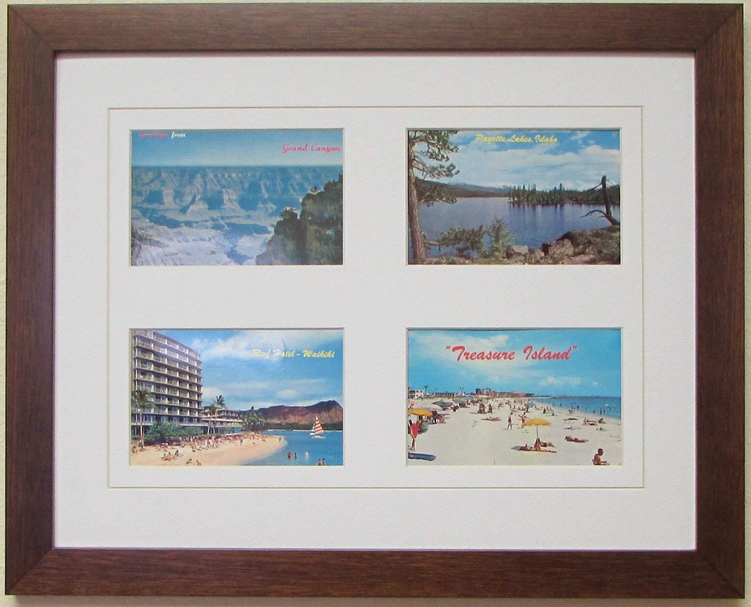 Postcard Frame for Four (4) 3.5'' X 5.5'' Postcards or Photos