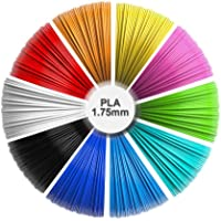 3D Pen Refills, 1.75mm PLA Pack (10 Solid Colors, 16 feet Each Color) Total 160 feet, Non-Toxic and odorless/No Clogging