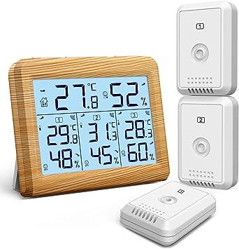 ORIA Termómetro Higrómetro Digital, Temperatura Humedad Monitor ...