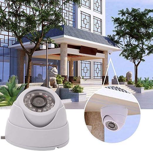 Cámara de Seguridad 24 LED IR AHD Cámara de visión Nocturna Audio ...