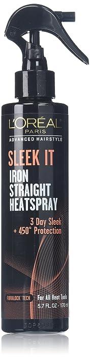 L'Oréal Paris Advanced Hairstyle SLEEK IT Iron Straight Heatspray, 5.7 fl. oz.