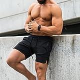 EVERWORTH Men's Solid Gym Workout Shorts