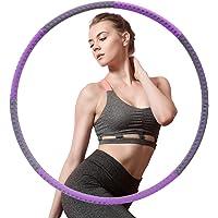 Hoelahoep Fitness, AUCARY afneembare 8-delige fitnessmassage gewichtsverlies hoelahoep, hoepel met gewichten geschikt…