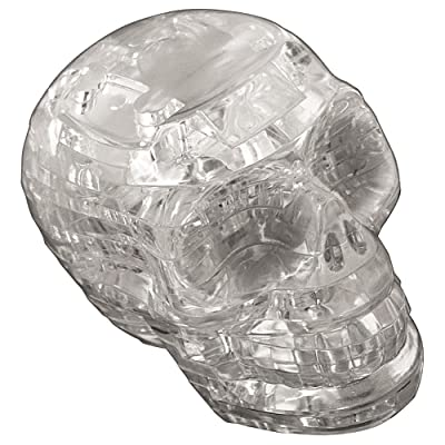 Original 3D Crystal Puzzle - Skull Clear: Toys & Games
