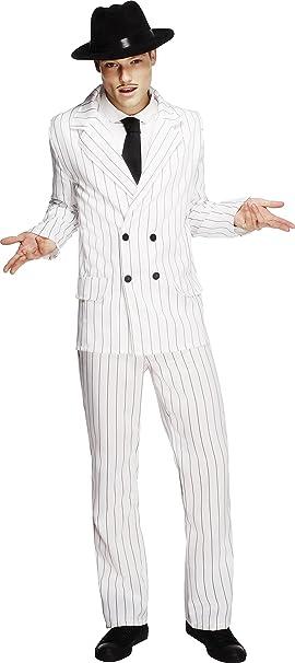 Smiffys-31079M Disfraz Fever de gánster, chaqueta, pantalones y ...