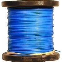 Fil nylon rond bleu en bobine de 100 M x 1.6 mm