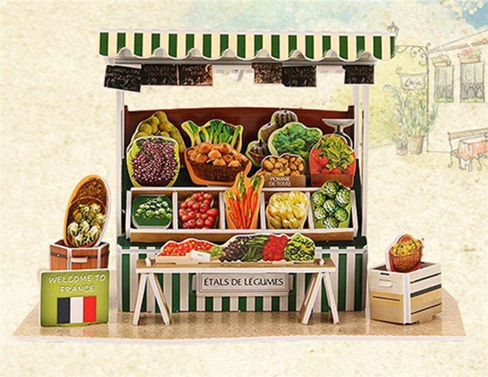 【オンライン限定商品】 フランス野菜ストール 3Dパズル 男の子 男の子 女の子 DIY教育玩具 モデルペーパー 女の子 DIY教育玩具 B07BY59FL9, 和歌山県湯浅町:f23e93a0 --- a0267596.xsph.ru