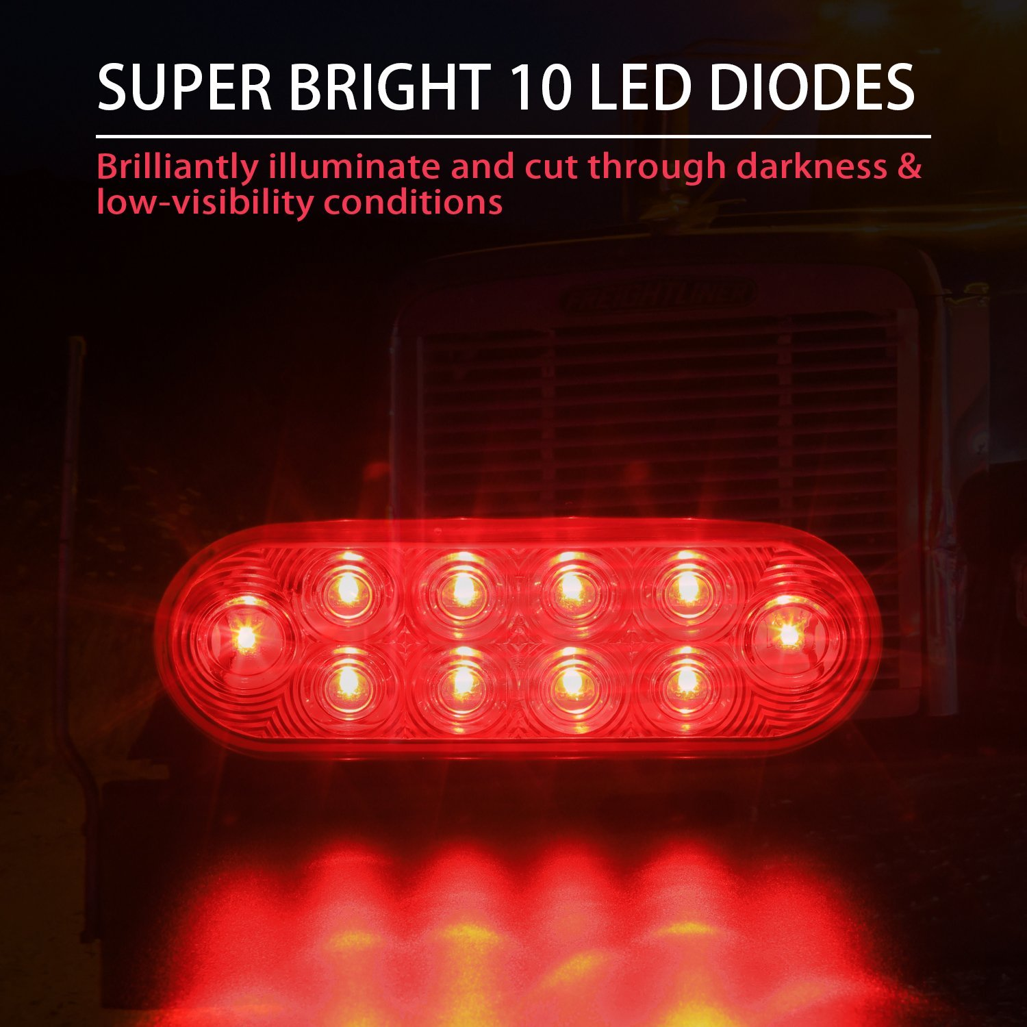 6 Oval Trailer Tail Lights 2pc Red Taillights Also Led Along With Wiring Kit 10 Diodes Of Bright Power Mount To Boat Trailers Truck Jeep Exteriors And