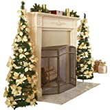 White Pull Up Poinsettia Christmas Tree