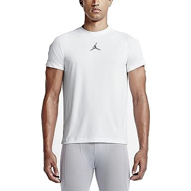 bb4ba0925e30 NIKE Men s Air Jordan All-Season Fitted Short Sleeve Training Shirt (Medium)