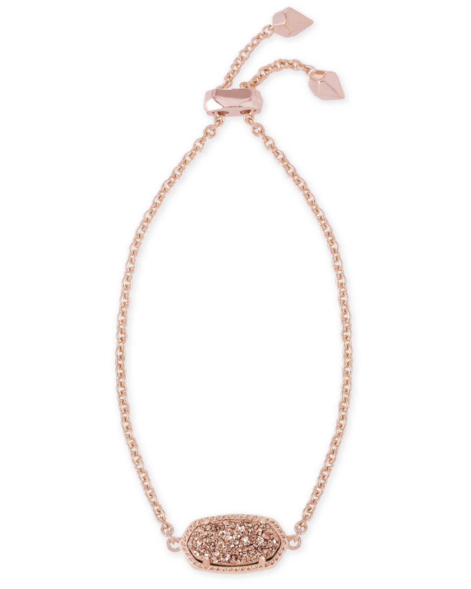 Kendra Scott Elaina Adjustable Chain Bracelet In Rose Gold Drusy