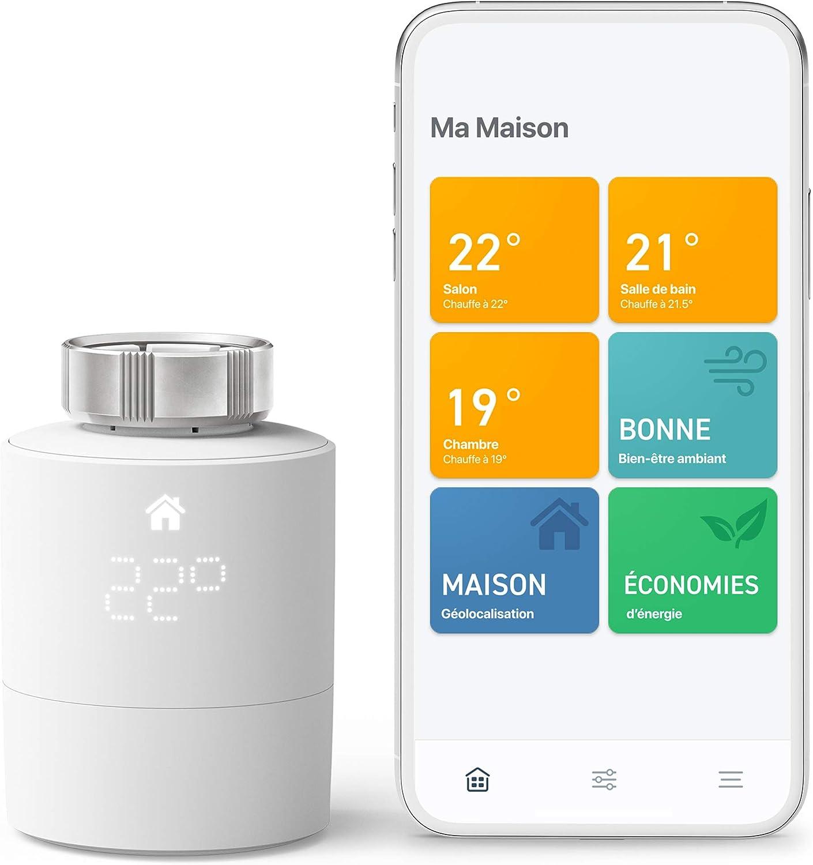 tado° Tête Thermostatique Intelligente Kit de Démarrage V3+ - Contrôle intelligent du...