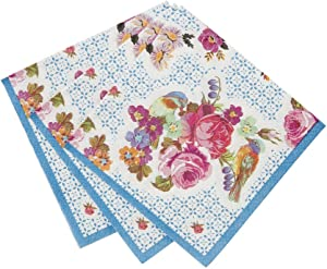 Talking Tables Tea Party Floral Small Cocktail Napkins   Truly Scrumptious   Also Great For Birthday Party, Baby Shower, Wedding And Anniversary   Paper, 40 Pack